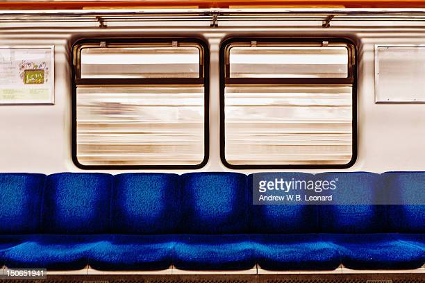 subway car - vehicle interior stock pictures, royalty-free photos & images