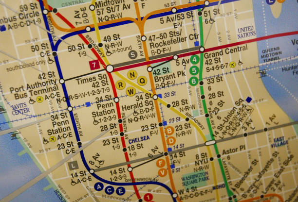 a subway map is hangs in a subway car october 26 2004 in new york