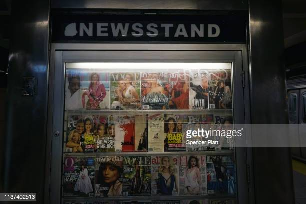 Subway newsstand sells snacks, newspapers and other sundry items to commuters in Brooklyn on March 21, 2019 in New York City. According to the...