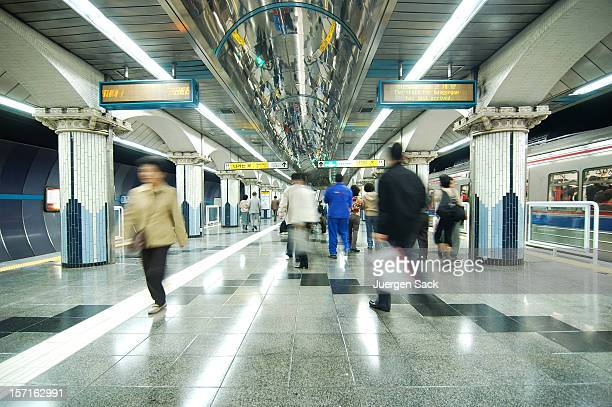 subway - seoul stock pictures, royalty-free photos & images