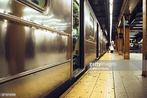 NYC subway platform at Penn Station in Manhattan # 3 express line