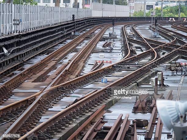 Subway rail track at Shanghai