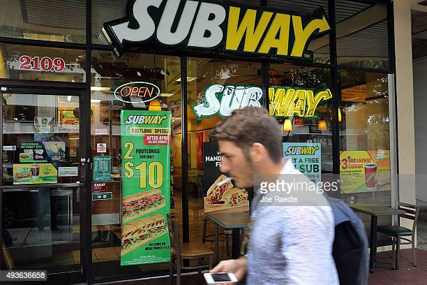 Subway restaurant is seen as the company announced a settlement over a classaction lawsuit that alleged that Subway engaged in deceptive marketing...