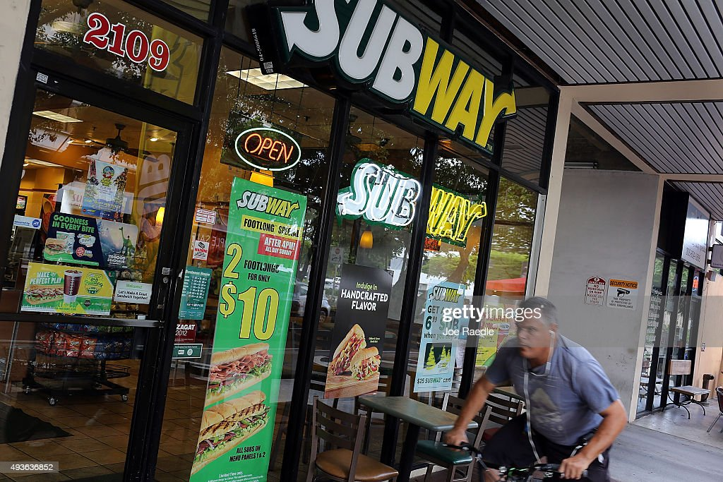 Subway Settles Not-Really Foot Long Sandwich Litigation : News Photo