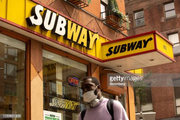 Subway Restaurant location in New York, U.S., on Friday, July 2, 2021. With new breads, smashed avocado and fresh mozzarella, the sandwich chain is...