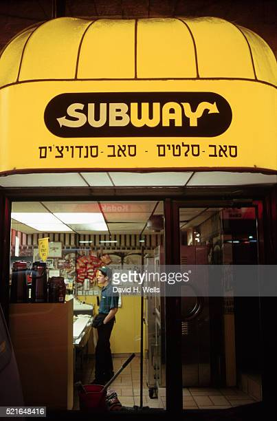Subway Sandwich Shop in Jerusalem