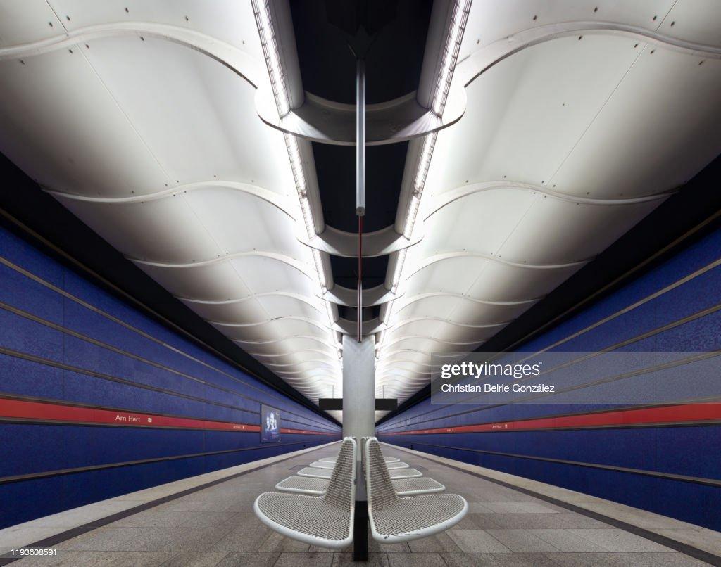 Subway Station Am Hart, Munich, Germany : Stock-Foto