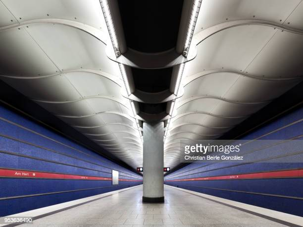 subway station am hart, munich - christian beirle stockfoto's en -beelden