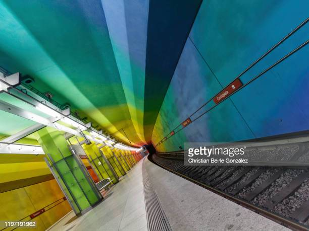subway station candidplatz, munich - christian beirle stock pictures, royalty-free photos & images