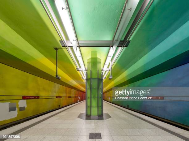 subway station candidplatz, munich - christian beirle stockfoto's en -beelden