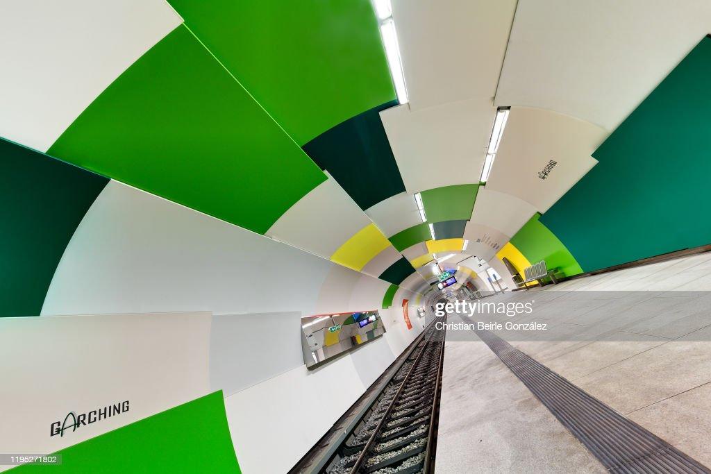 Subway Station Garching, Munich, Germany : Stock-Foto