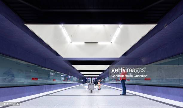 subway station gern, munich - christian beirle stock pictures, royalty-free photos & images