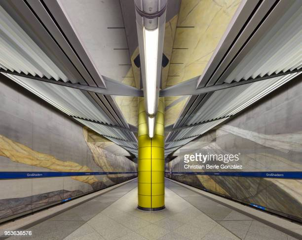 subway station grosshadern, munich - christian beirle gonzález stock-fotos und bilder