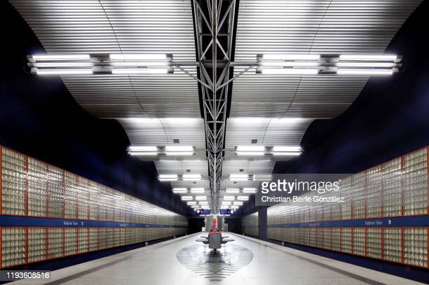 subway station haderner stern, munich, germany - christian beirle gonzález stock-fotos und bilder
