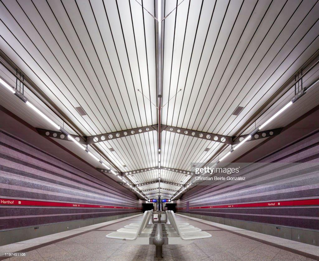 Subway Station Harthof, Munich, Germany : Stock-Foto