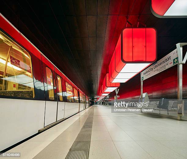 Subway station in Hamburg, Germany