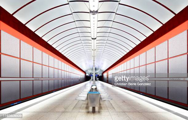 subway station kreillerstrasse, munich, germany - christian beirle stock pictures, royalty-free photos & images