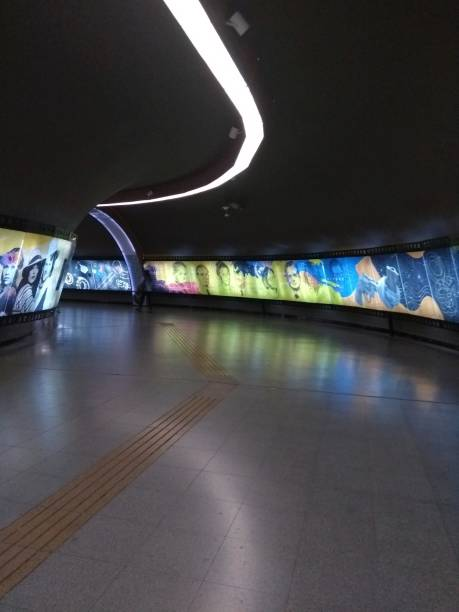 """Subway station """"Los Leones"""" in Santiago, the capital of Chile"""