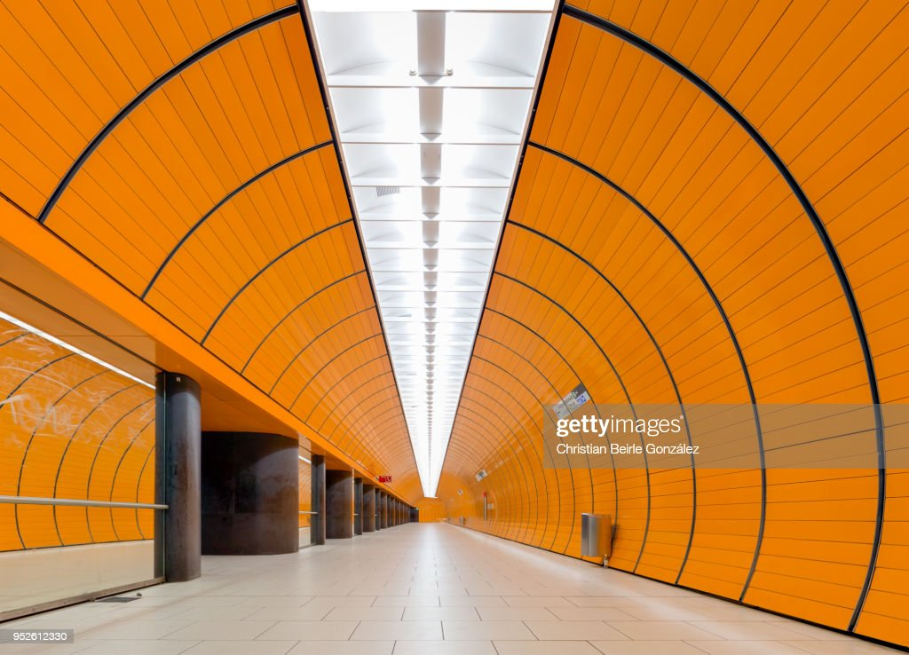 Subway Station Marienplatz, Munich : Foto de stock