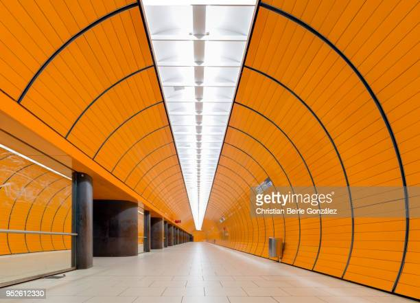 subway station marienplatz, munich - christian beirle stock pictures, royalty-free photos & images