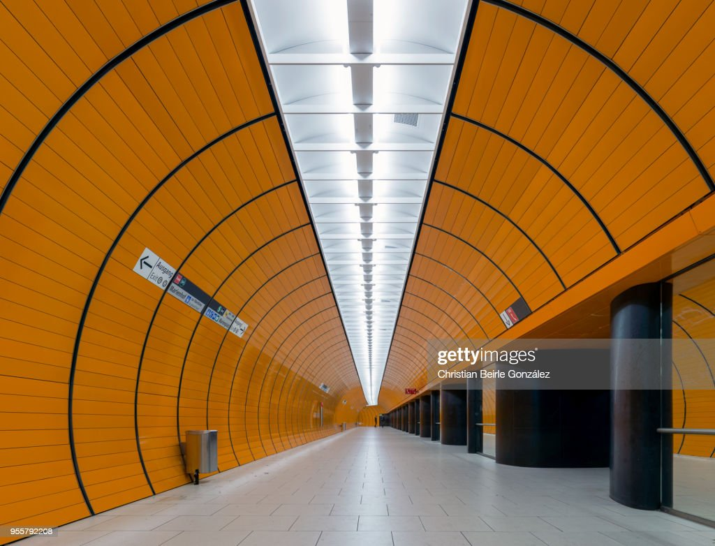 Subway Station Marienplatz, Munich : Stock-Foto