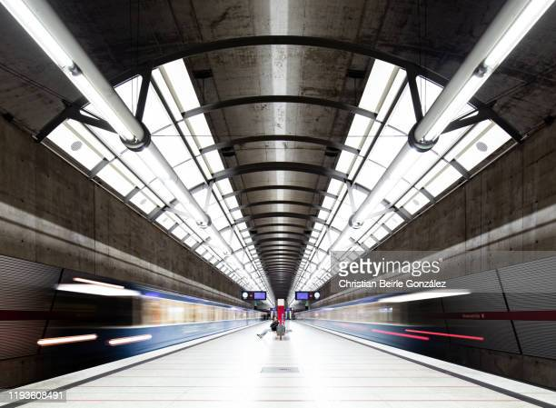 subway station messestadt ost, munich, germany - christian beirle foto e immagini stock