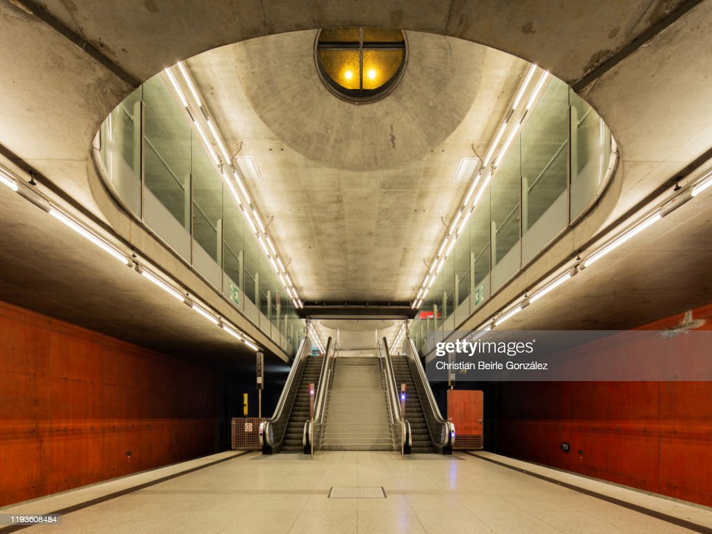 Subway Station Messestadt West Munich, Germany : Stock-Foto