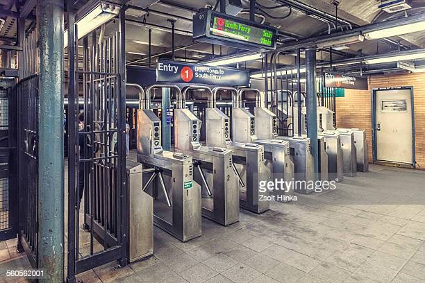 subway station, new york - entrance sign stock pictures, royalty-free photos & images