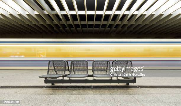 subway station olympiazentrum, munich - christian beirle gonzález stock pictures, royalty-free photos & images