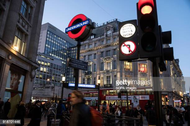 Subway station panel seen in London famous Oxford street Central London is one of the most attractive tourist attraction for individuals whose...