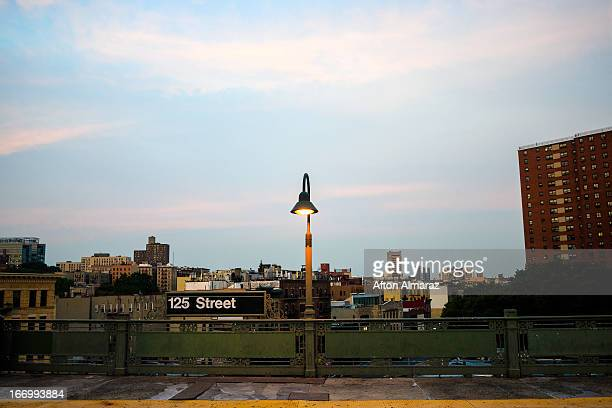 nyc subway station - harlem stock pictures, royalty-free photos & images