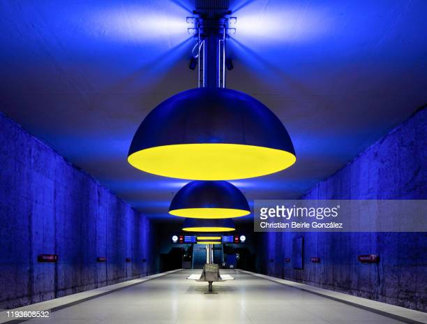 subway station westfriedhof, munich, germany - christian beirle stock pictures, royalty-free photos & images