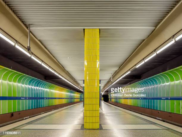 subway station westpark, munich, germany - christian beirle gonzález stock pictures, royalty-free photos & images