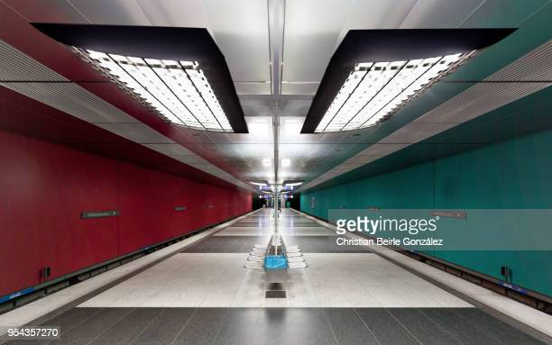 subway station wettersteinplatz, munich - christian beirle stock pictures, royalty-free photos & images