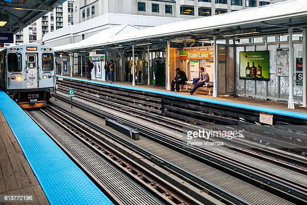 Subway stationon on Chicago Loop.