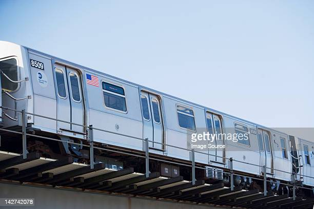 subway train, new york city, usa - new york city subway stock pictures, royalty-free photos & images