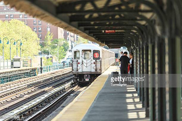 NYC Subway Train On Line 1 In Harlem