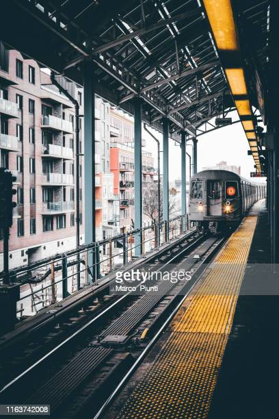 nyc subway train - new york city subway stock pictures, royalty-free photos & images