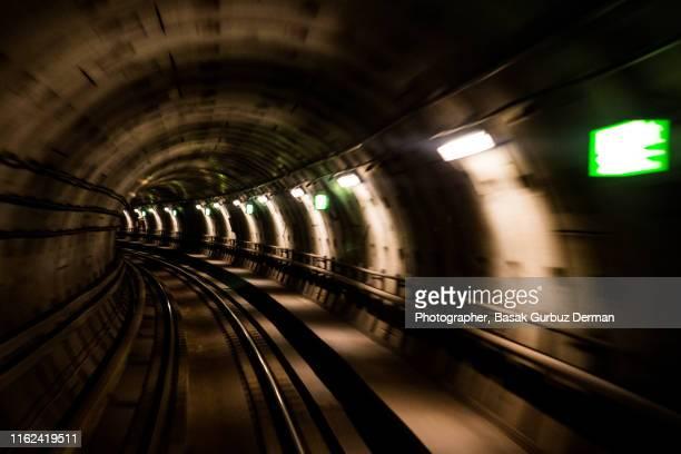 subway tunnel in copenhagen - basak gurbuz derman stock photos and pictures