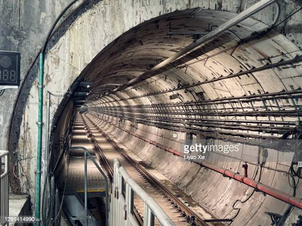subway tunnel - liyao xie stock pictures, royalty-free photos & images