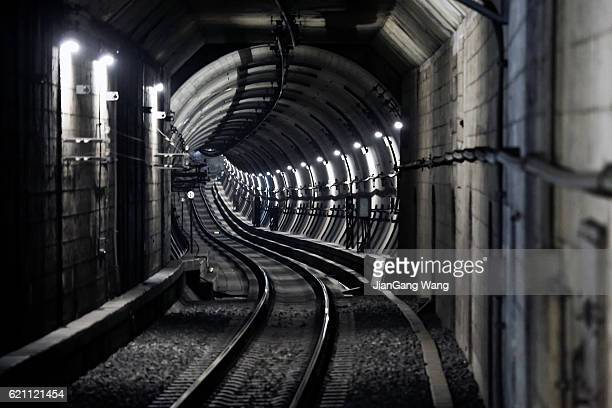 subway tunnel - underground stock photos and pictures