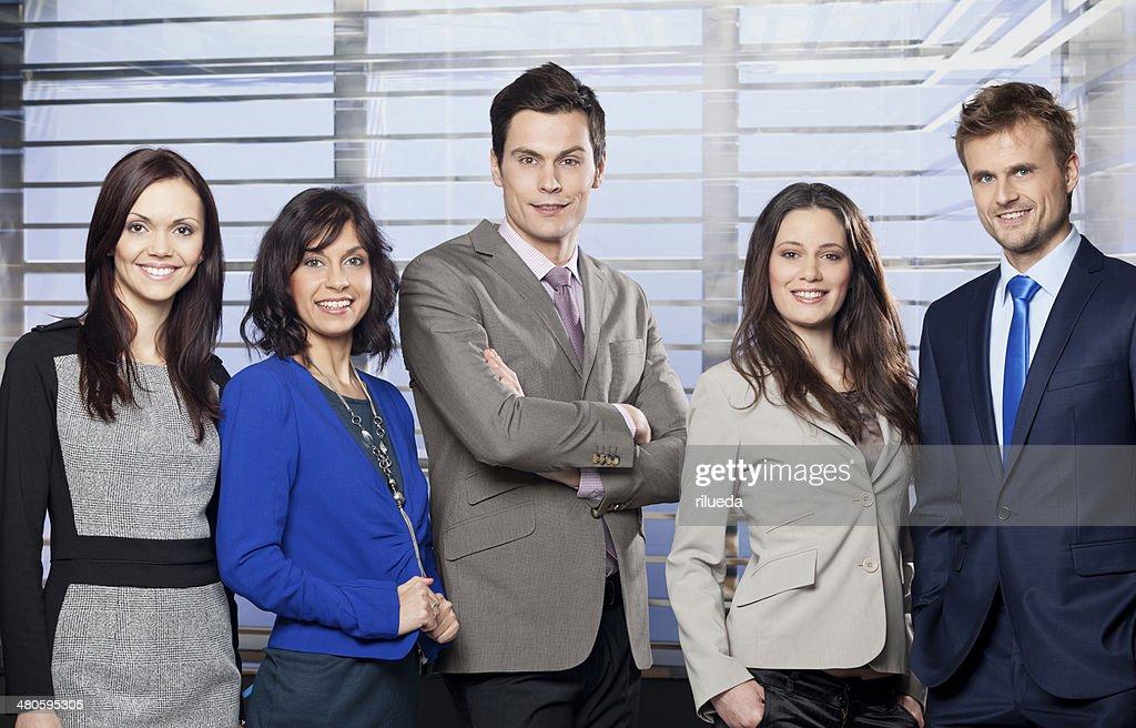 Succesful office team : Stock Photo
