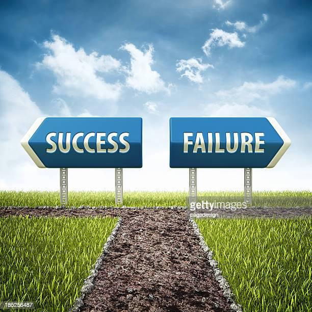 success and failure crossroad