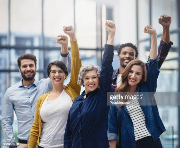 success deserves to be celebrated - cheering stock photos and pictures