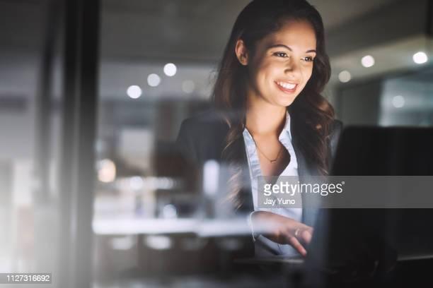 succes niet gebeuren dan 's nachts - hardnekkigheid stockfoto's en -beelden