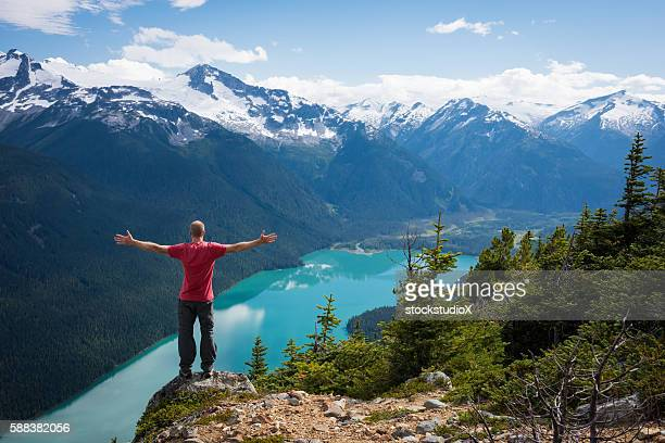 success in the great outdoors - garibaldi park stock pictures, royalty-free photos & images