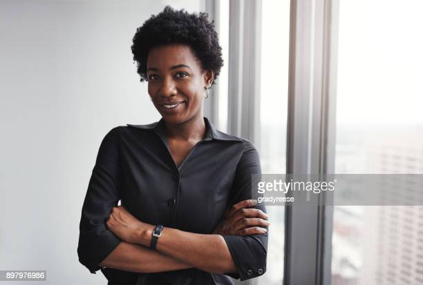 success is for those who believe in themselves - black woman stock photos and pictures