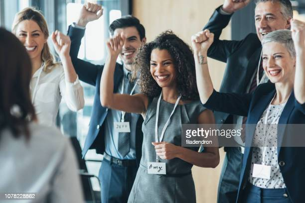 success - press conference stock pictures, royalty-free photos & images