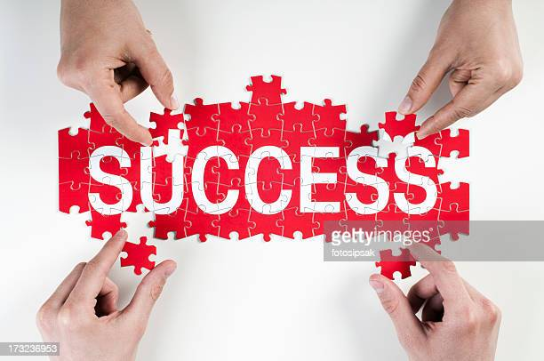 success puzzle - single word stock pictures, royalty-free photos & images