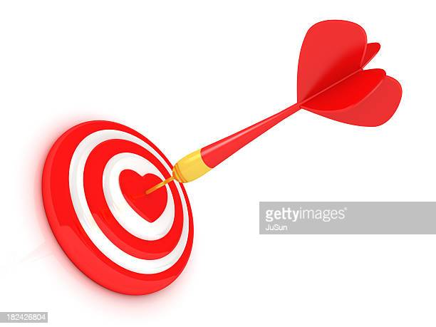 success red dart - beating heart stock pictures, royalty-free photos & images
